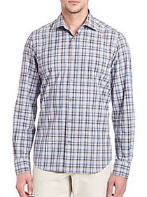 Plaid Long Sleeve Shirt BLUE