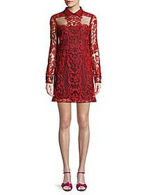 Lace Embroidered Mini Dress LILIUM