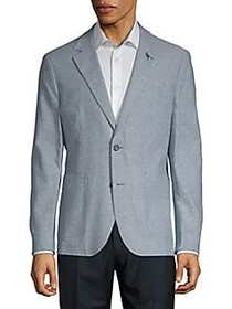 Bay Textured Jacket BLUE