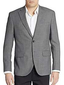 Regular-Fit Wool Two-Button Sportcoat GREY