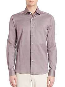 COLLECTION Buttoned Cotton Shirt BROWN