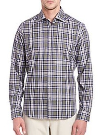 Windowpane Plaid Shirt GREEN