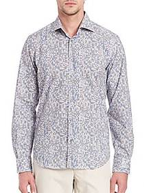 Regular-Fit Abstract Printed Shirt GREY