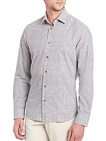 Printed Long Sleeve Shirt GREY