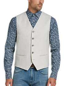 Joseph Abboud Silver Gray Brushed Wool Vest