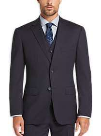 Awearness Kenneth Cole Navy Stripe Slim Fit Vested