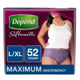 Depend Silhouette Maximum Absorbency L/XL for Wome