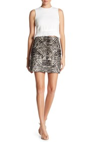 Theory FUR Irenah Calf Hair Leather Skirt