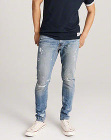 Ripped Super Skinny Jeans, RIPPED MEDIUM WASH WITH