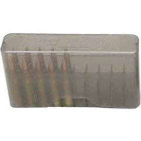 MTM 20RD SLIP-TOP MED RIFLE AMMO BOX POLY CLEAR SM