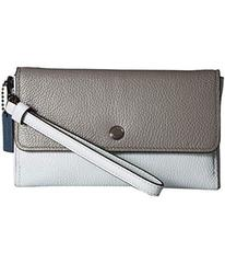 COACH Triple Small Wristlet in Color Block Leather
