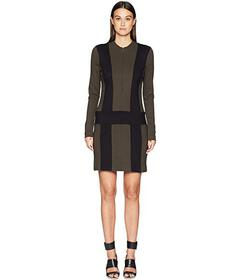 Nicole Miller Ponte Zip-Up Dress