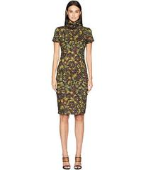 Nicole Miller Flower High Neck Dress