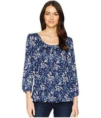 MICHAEL Michael Kors Scatter Blooms Peasant Top
