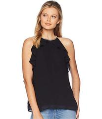MICHAEL Michael Kors Chain Ruffle Sleeveless Top