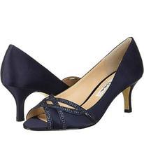 Nina New Navy Satin/Navy Glitter