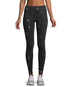 Foil Tall Band Full-Length Performance Leggings