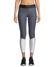Armour Jacquard Colorblock Cropped Leggings