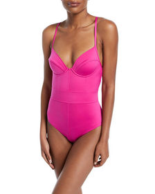 Underwire Lingerie One-Piece Swimsuit