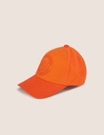 EMBOSSED LOGO MESH PANELED HAT