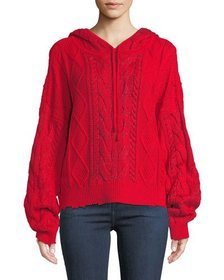 Marvin Cable-Knit Hooded Pullover Sweater