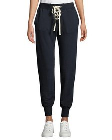 Lace-Up Sweatpants with Cuffs