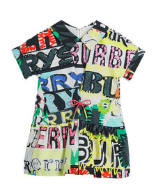 Forever Logo-Print Short-Sleeve Dress, Size 4-14