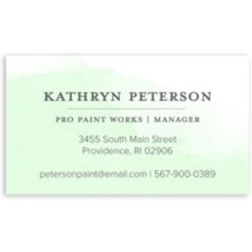 Watercolor Note - Personalized 3.5 x 2 Business Ca