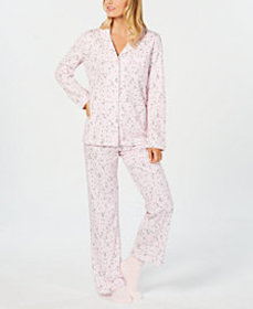 Charter Club Printed Pajama Set & Supersoft Cozy S