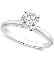 Engagement Ring, Certified Colorless Diamond (1 ct