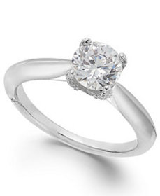 Classic by Marchesa Certified Diamond Solitaire En