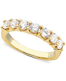 Seven Diamond Band in 14k Gold or White Gold (1 ct