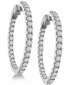 Diamond In and Out Hoop Earrings (3 ct. t.w.) in 1