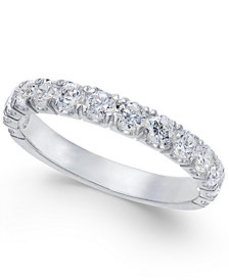 Pavé Diamond Band Ring (1 ct. t.w.) in 14k Gold, R