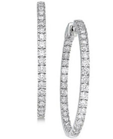 Diamond In and Out Earrings (5 ct. t.w.) in 14k Wh