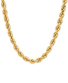 Rope Chain Necklace (4mm) in 14k Gold