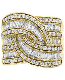 Classique by EFFY® Diamond Wide-Style Ring (1-1/2
