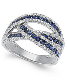 Royale Bleu by EFFY® Sapphire (1 ct. t.w.) and Dia