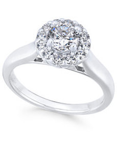 X3 Certified Diamond Engagement Ring (1 ct. t.w.)