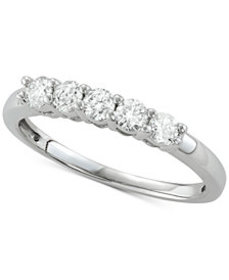 Diamond Five-Stone Band (1/2 ct. t.w.) in 14k Whit