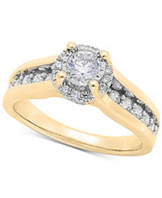 TruMiracle® Diamond Channel Halo Engagement Ring (