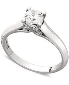X3 Certified Diamond Engagement Ring in 18k Gold o