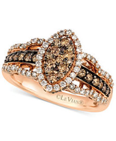Le Vian White and Chocolate Diamond Ring in 14k Ro