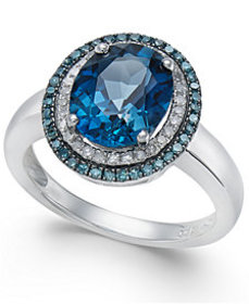 London Blue Topaz (2-3/4 ct. t.w.), Blue and White
