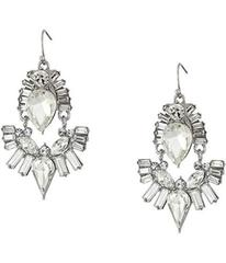 GUESS Stone Cluster Drop On Wire Earrings