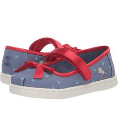 TOMS Blue Snow White Printed Canvas/Bow