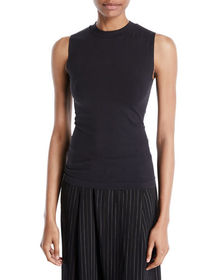Vince Fitted Sleeveless Crewneck Top