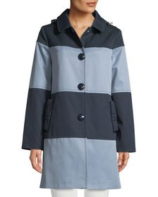 kate spade new york rain mac colorblock jacket w/