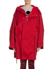 Etoile Isabel Marant Duffy Hooded Oversized Coat