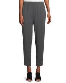 Eileen Fisher Slouchy Cropped Tencel Jersey Pants,